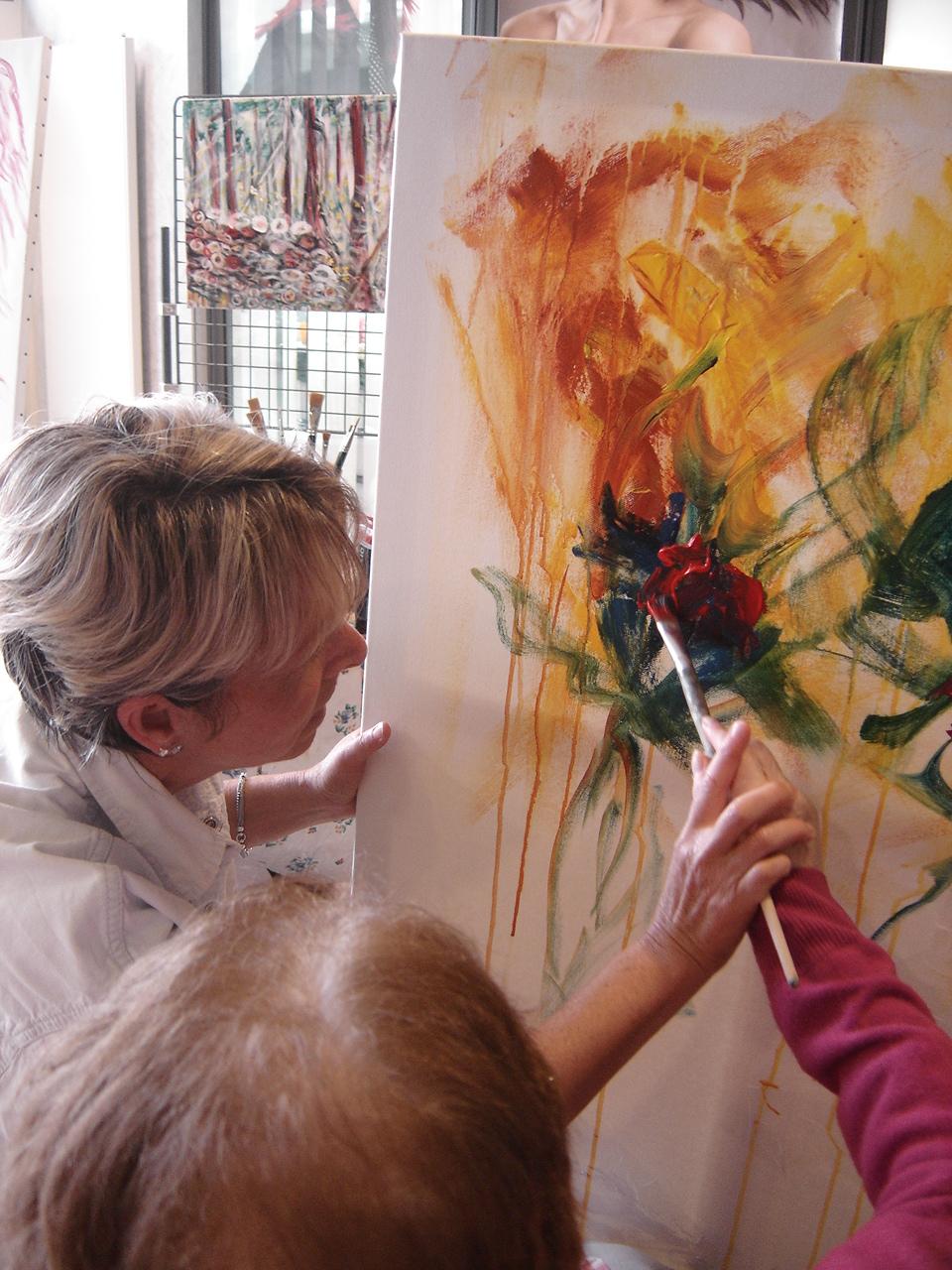 Exposition peinture Institut Helio Marin Labenne